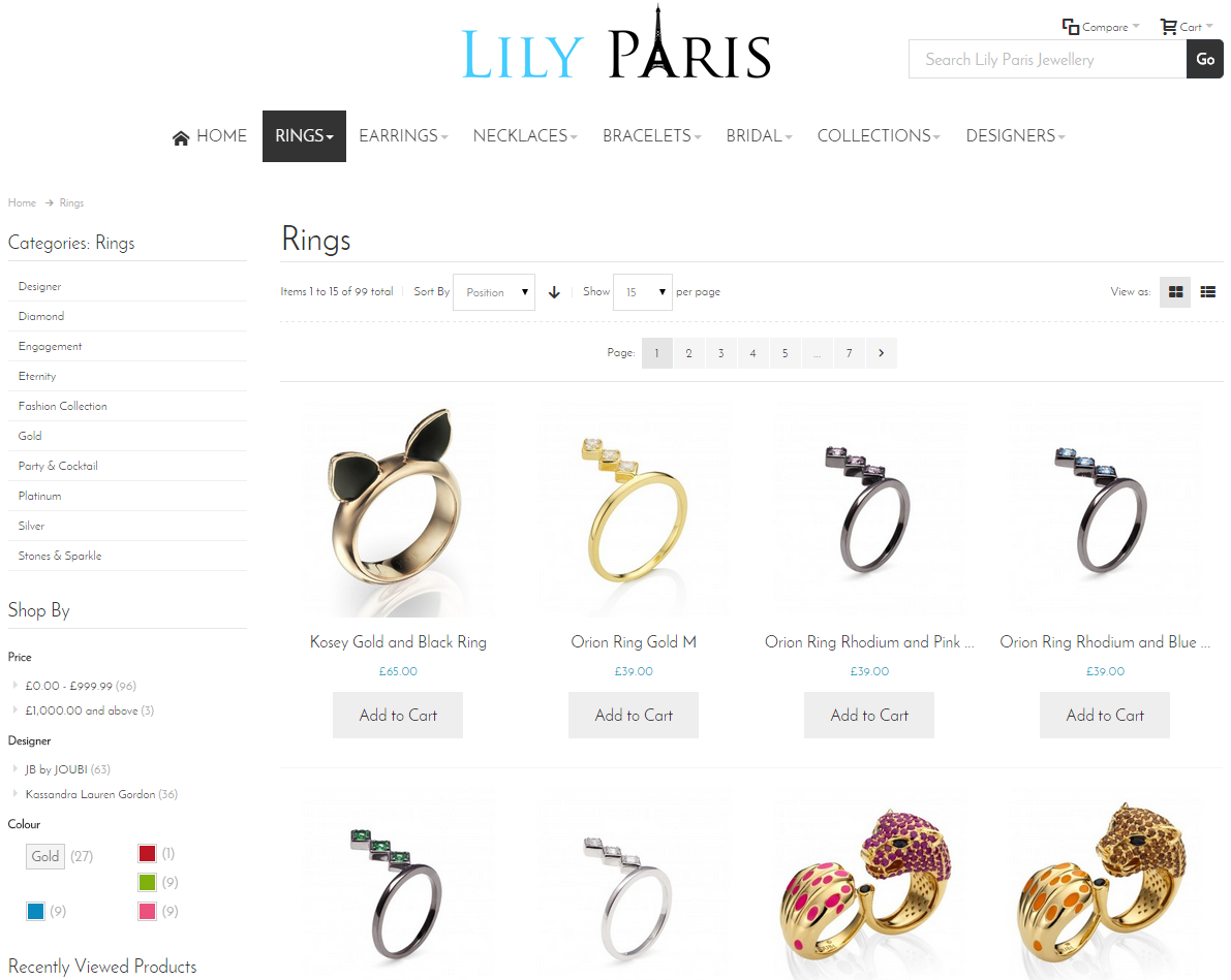 Lily Paris Category Page