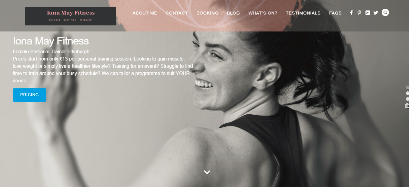 Female Personal Trainer Edinburgh Iona May Fitness