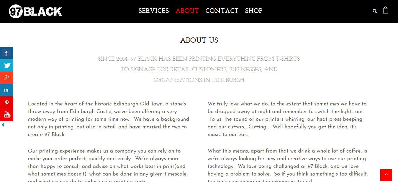 About 97 Black Edinburgh Print Shop