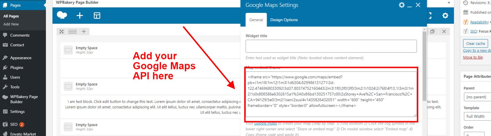 Add API for Google Maps