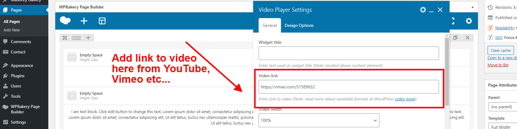 Add Video link