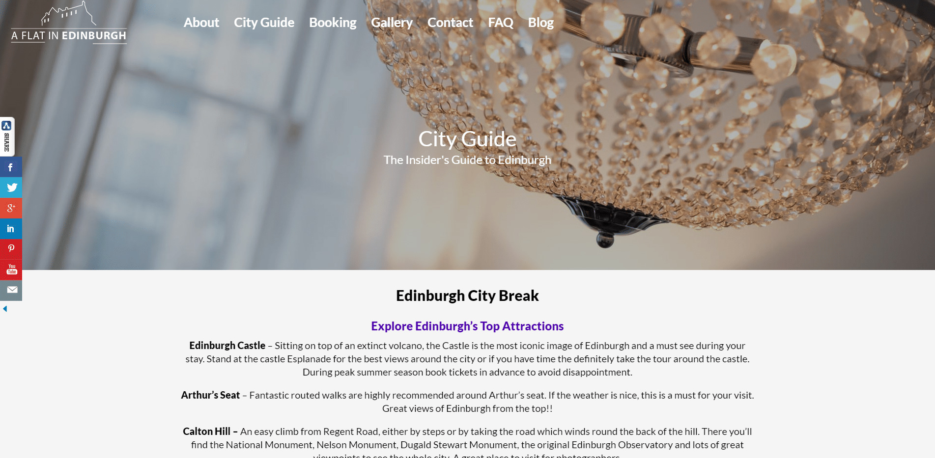 Edinburgh City Guide A Flat in Edinburgh
