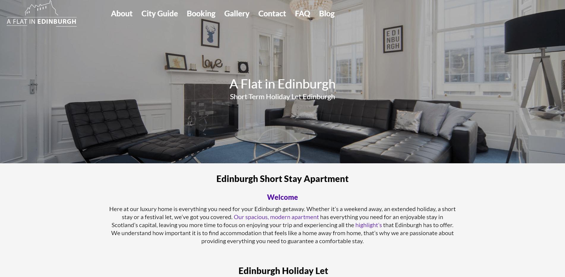 Edinburgh Holiday Apartment Festival Let Edinburgh