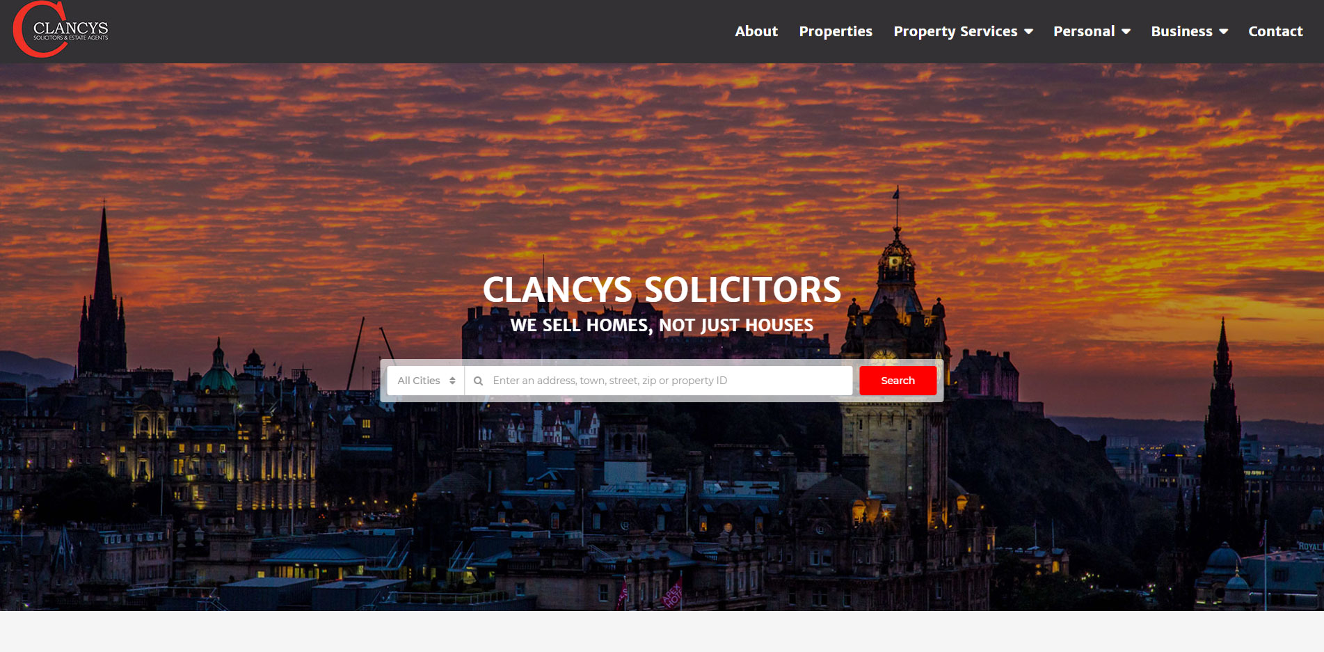 Clancys Solicitors Homepage 2018