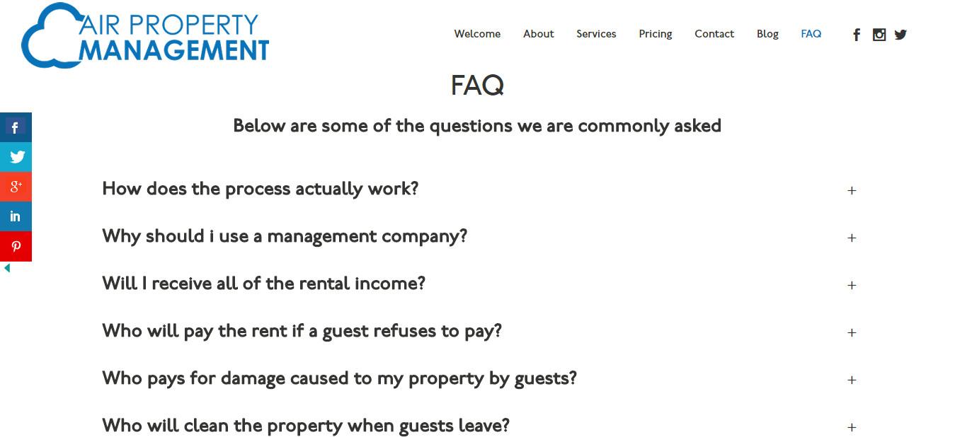 FAQ Air Property Management
