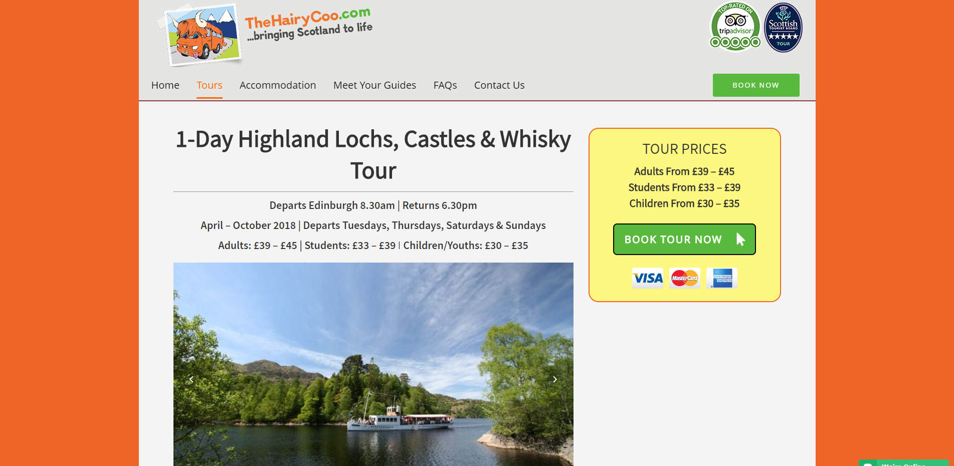 The Hairy Coo Individual Tour Page