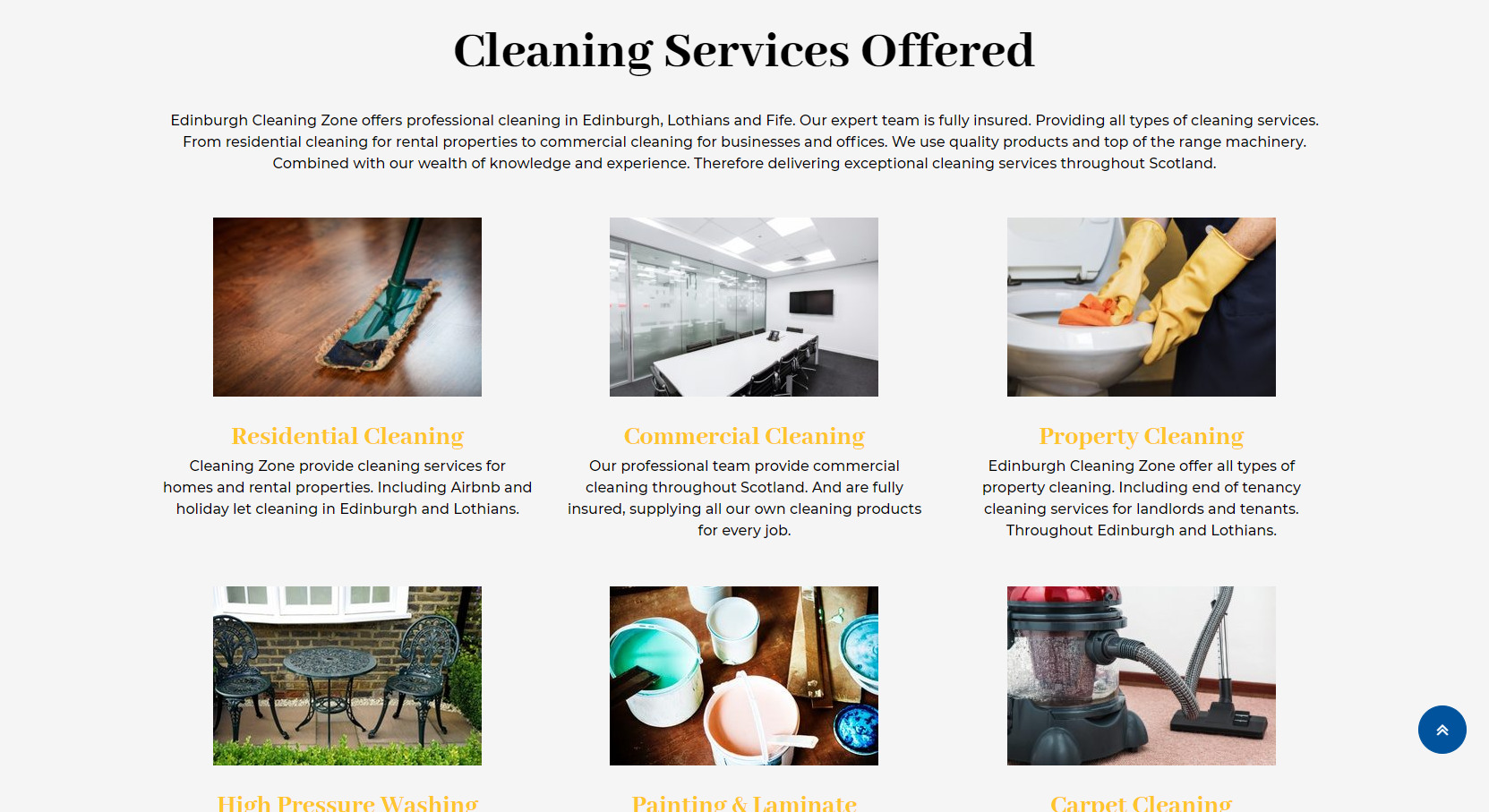 Cleaning Zone Website Design