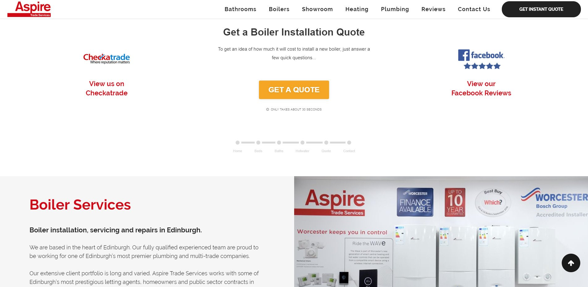 Aspire Homepage Middle Section