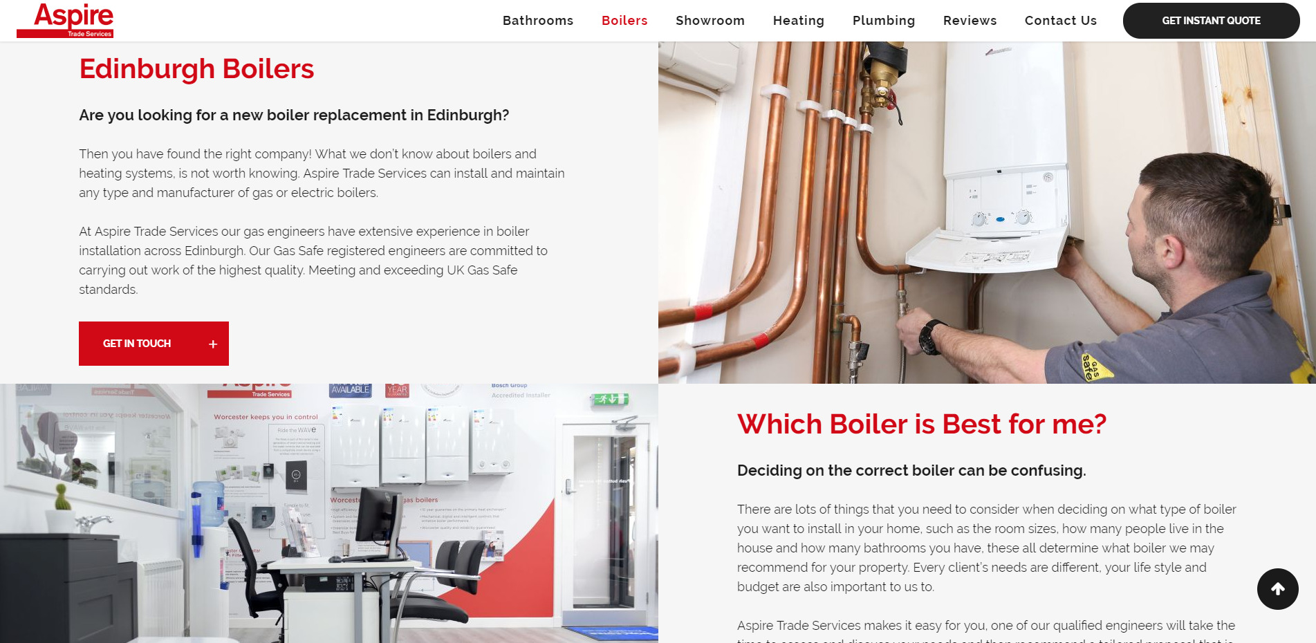 Boiler Replacement Edinburgh Aspire Trade Services