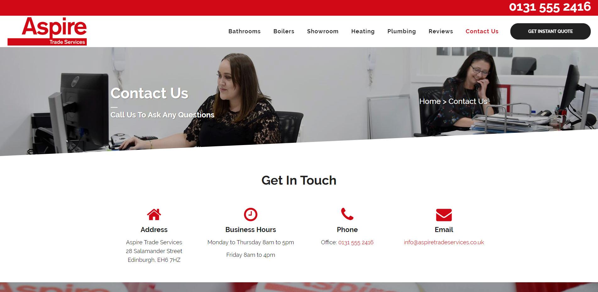 Contact Aspire Trade Services
