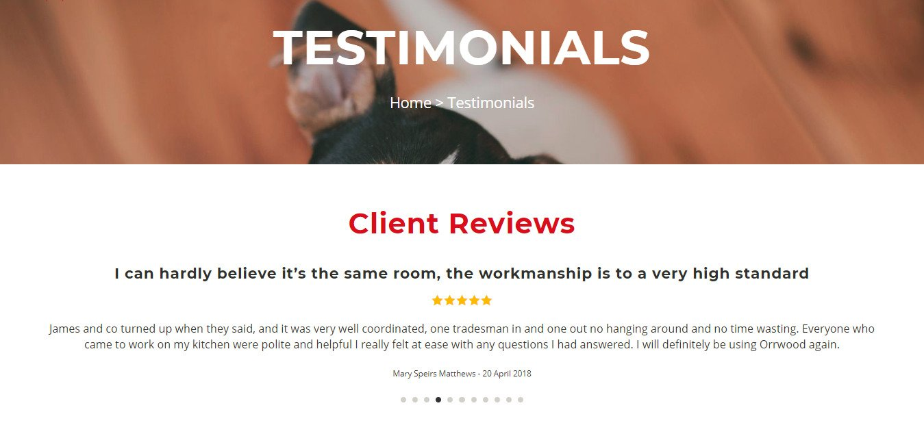 Testimonials Orrwood Property Services