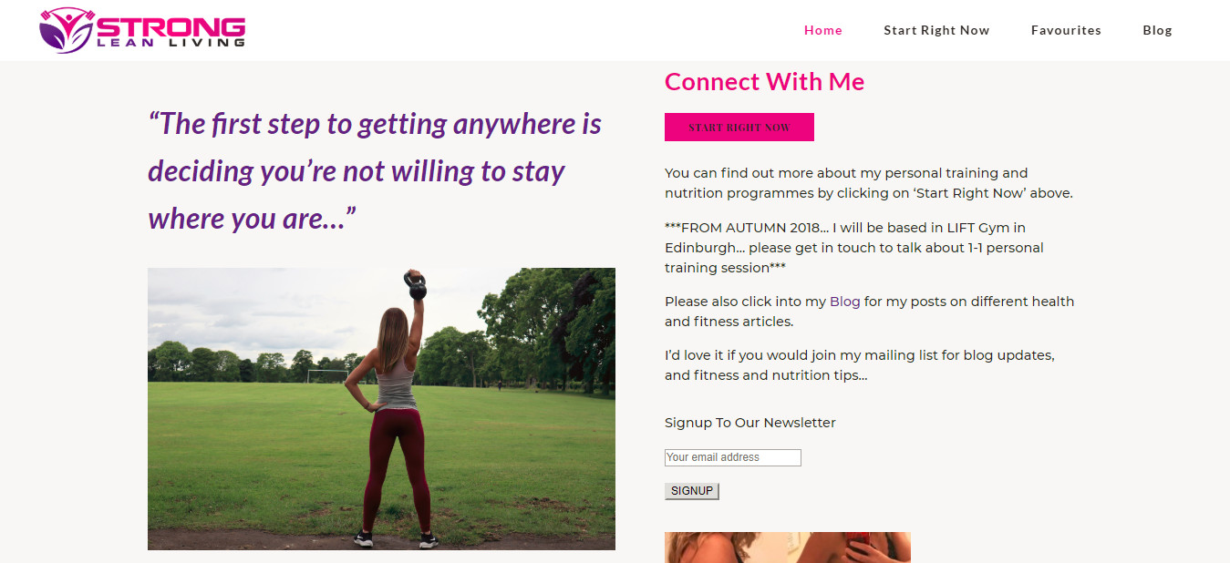 Homepage Strong Lean Living