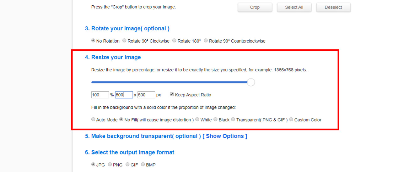 resize image editor