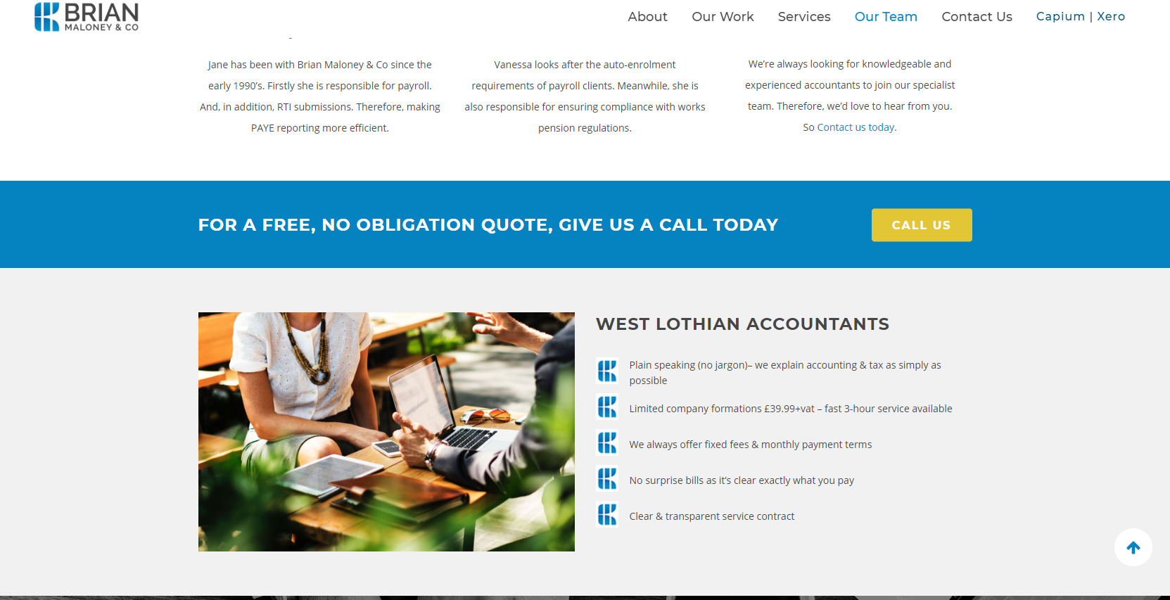 Brian Maloney Accountant Website Design
