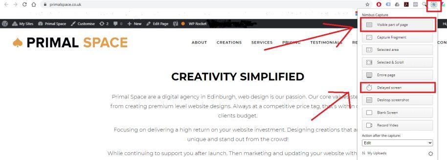 How To Take Website Screenshots