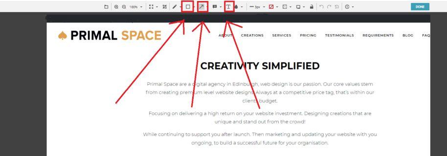 Taking Website Screenshots