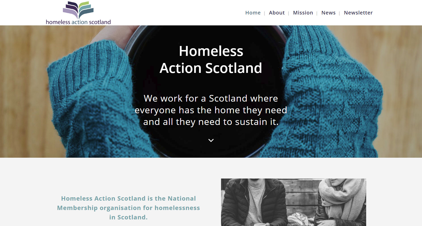 Homepage Homeless Action Scotland