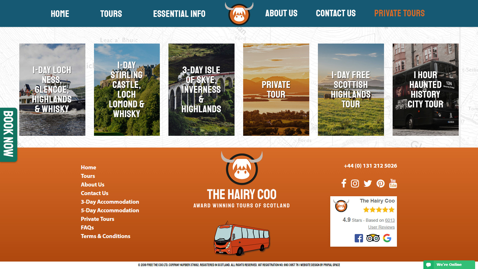 The Hairy Coo Website Design