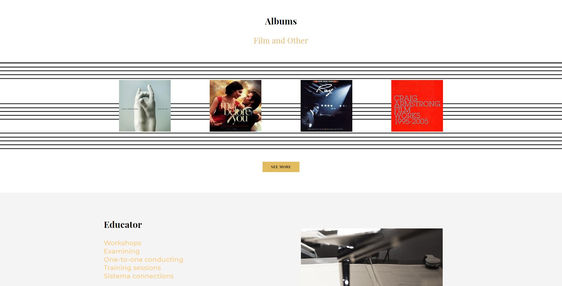cecilia weston website design