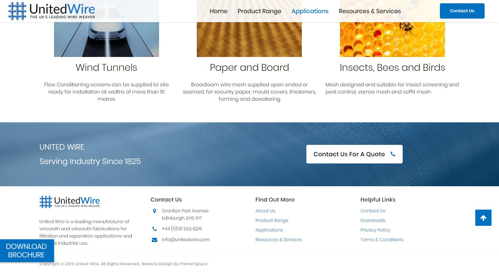 United Wire Website Design