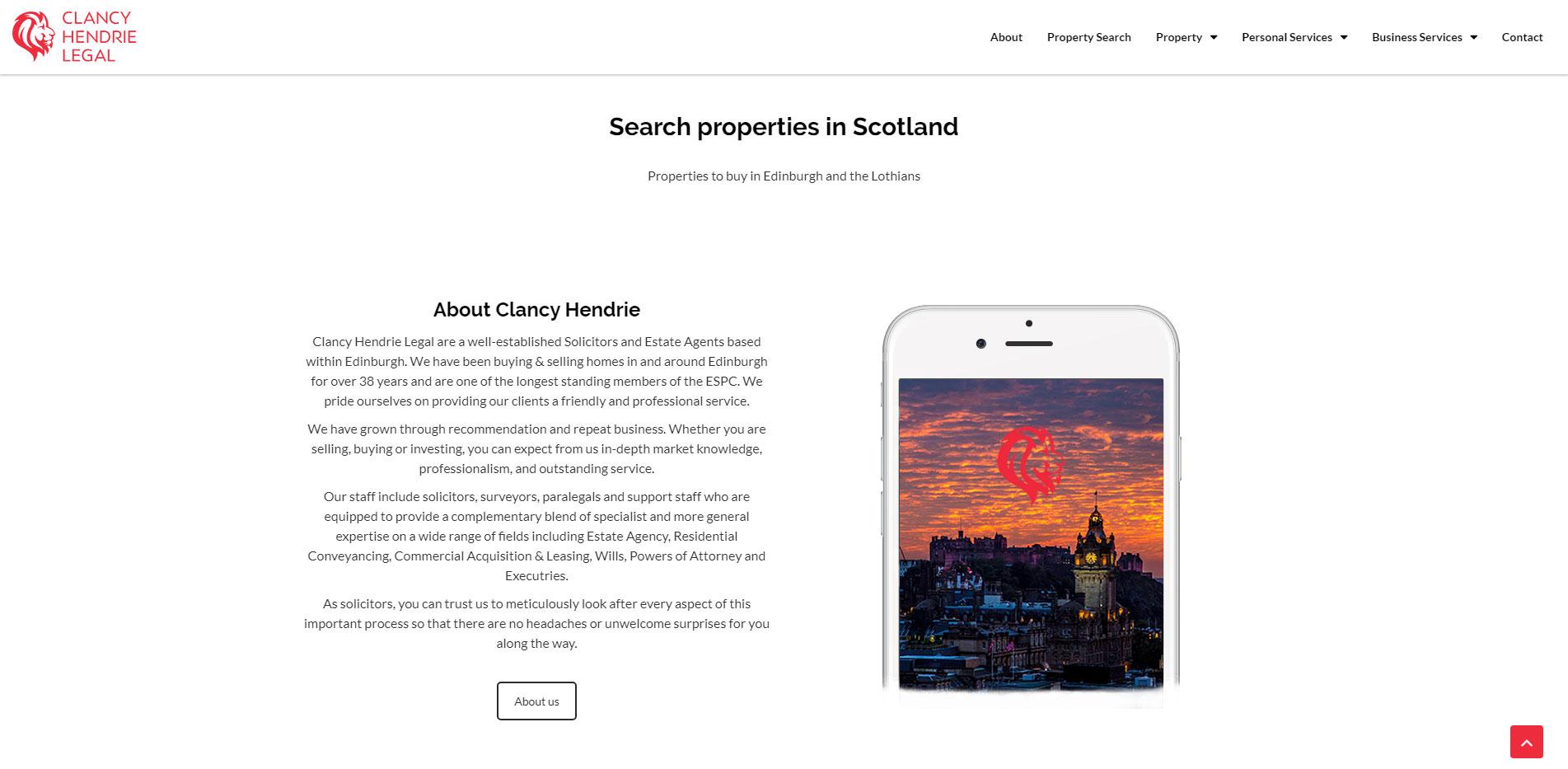 Clancy Hendrie Legal Homepage