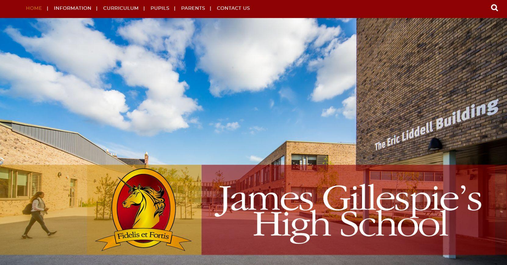 James Gillespie's High School Homepage