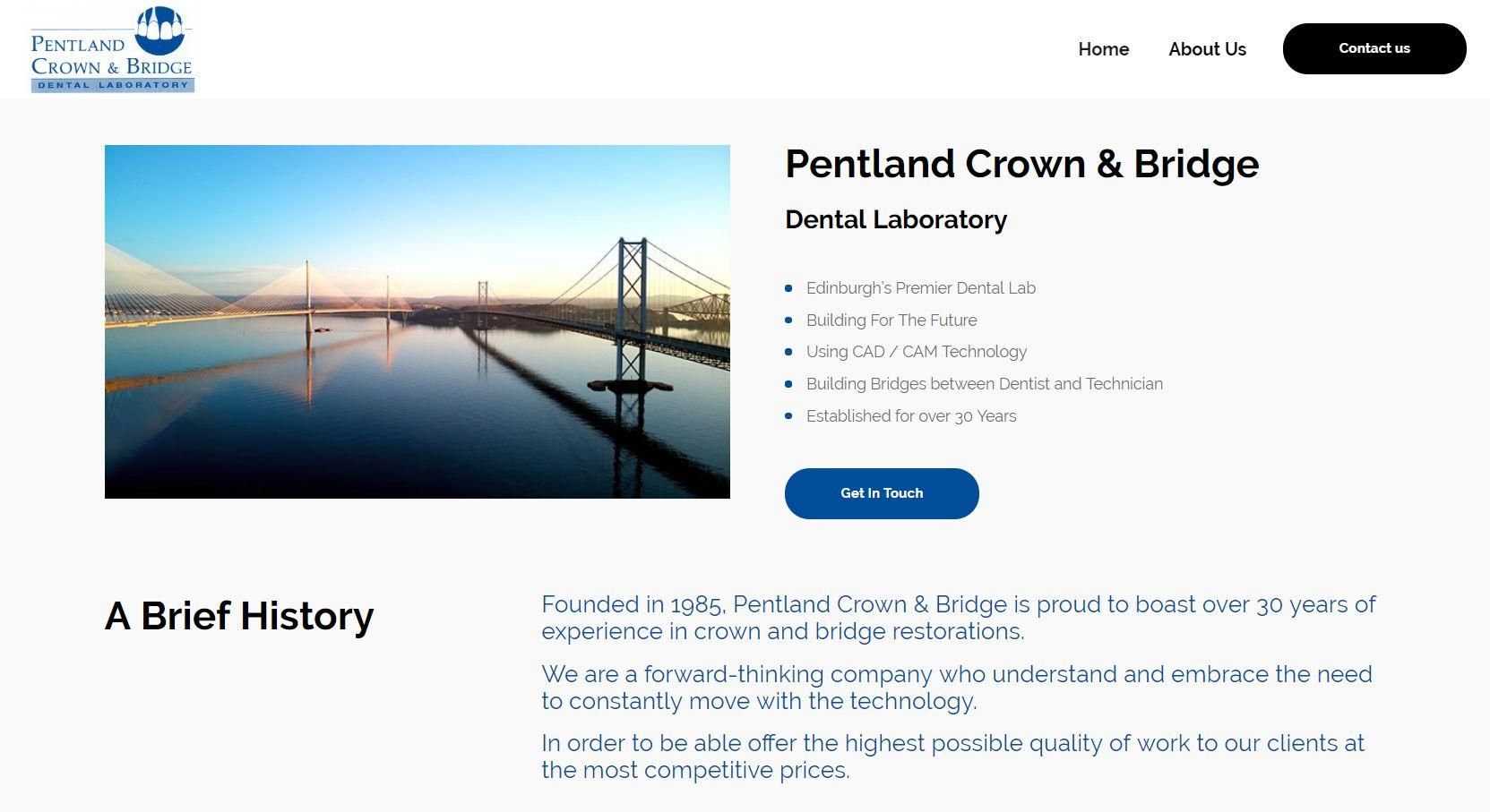 Pentland Crown & Bridge Homepage