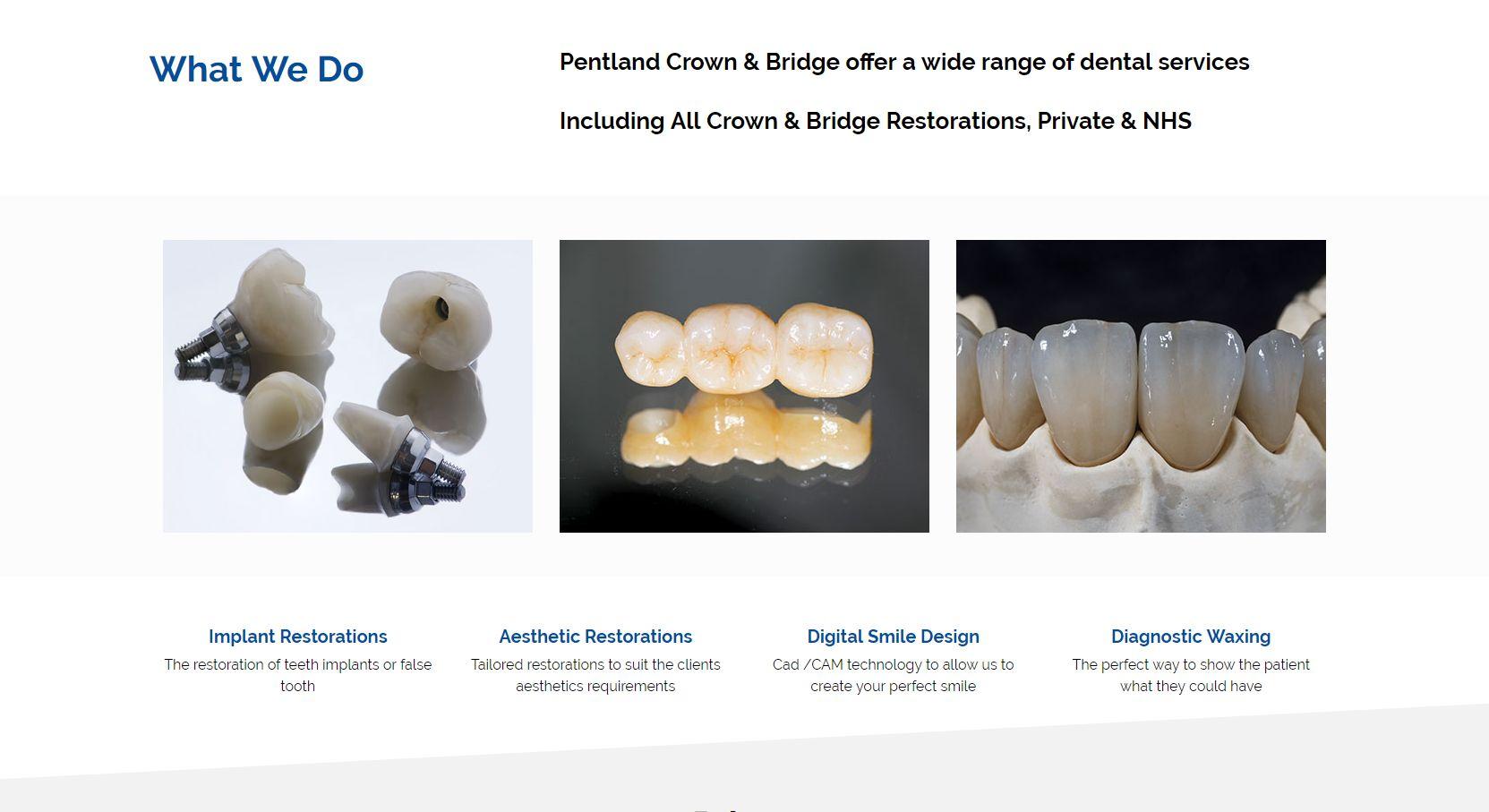 Pentland Crown & Bridge Menu