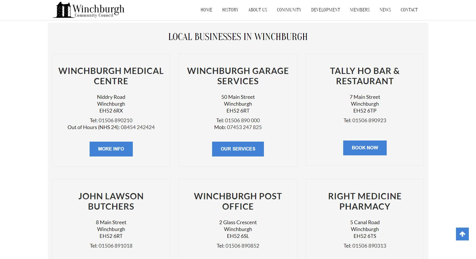 Winchburgh Community Council Businesses