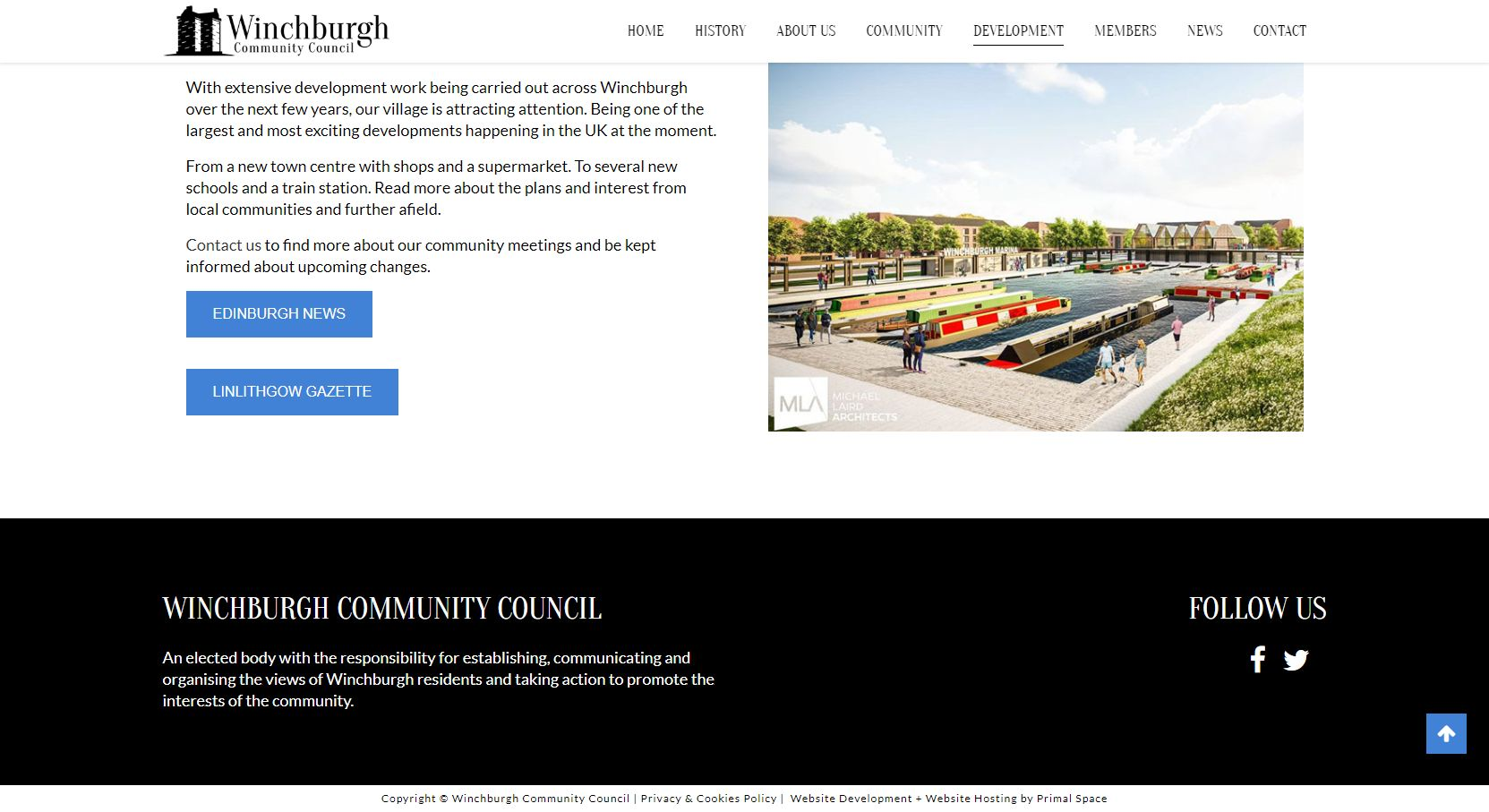 Winchburgh Community Council Development Footer