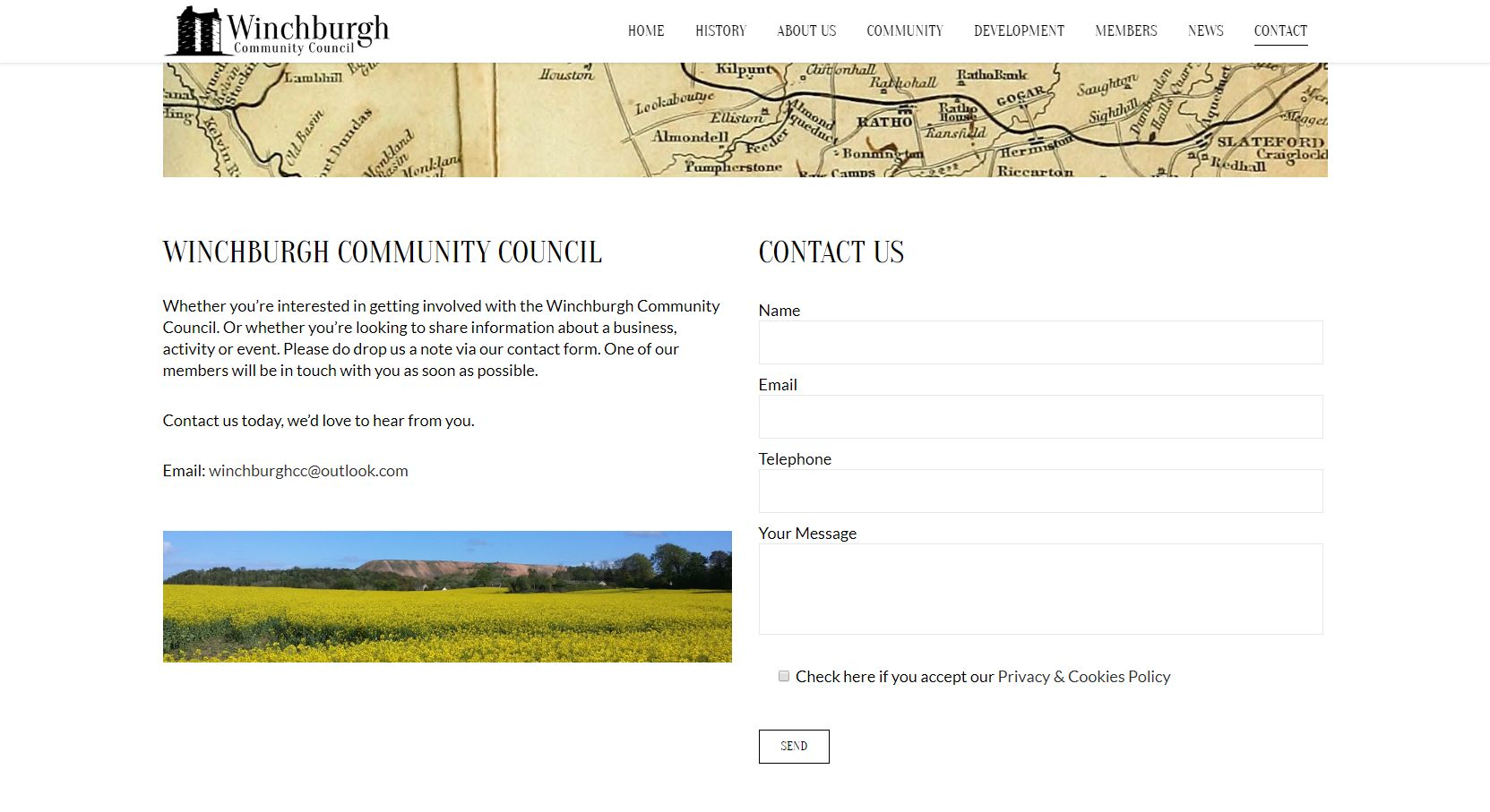 Winchburgh Community Council Development Contact Form