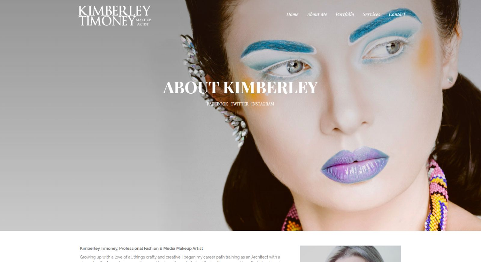 Kimberly Timoney Website Development About