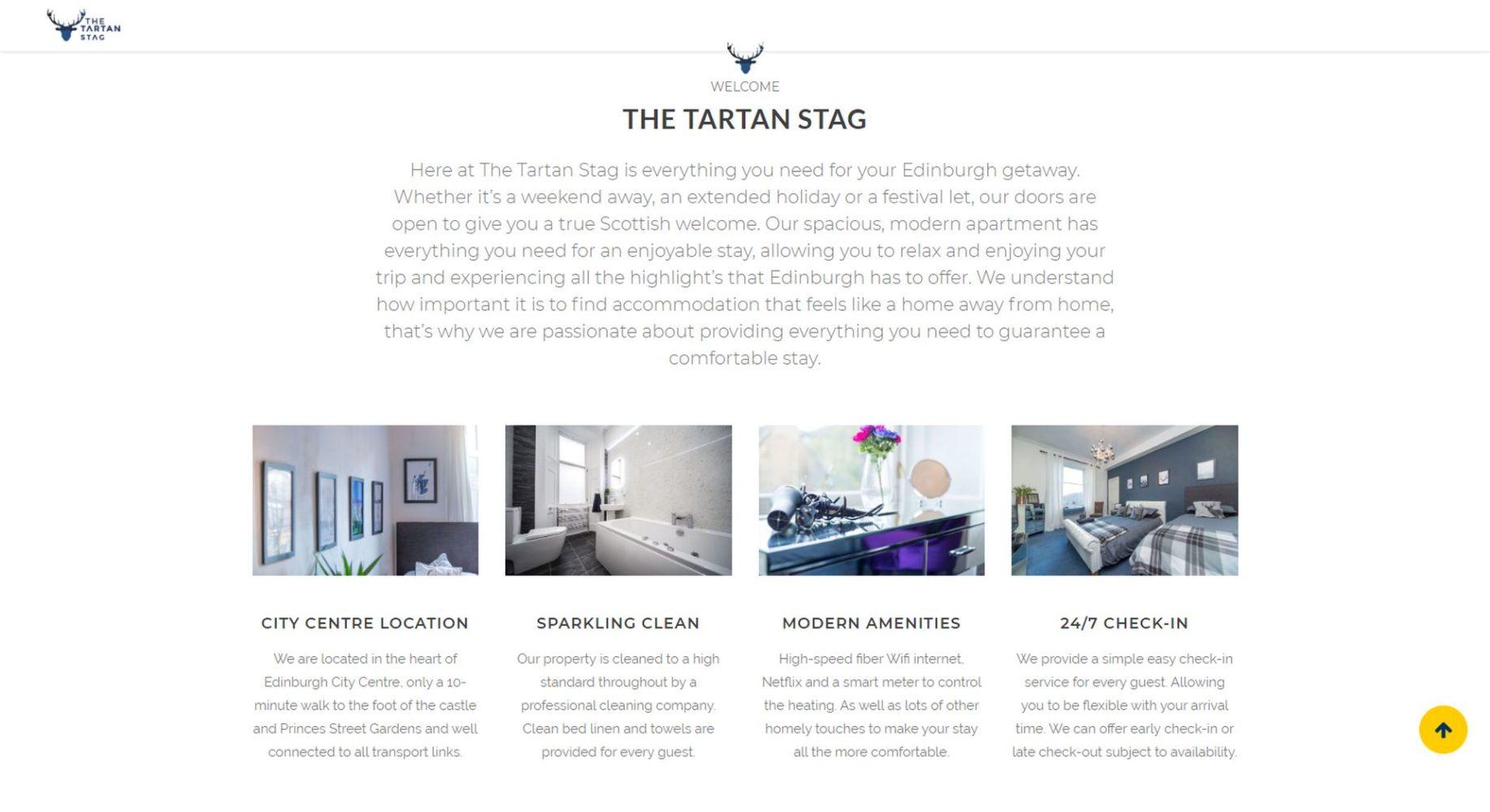 Tartan Stag Website Design About