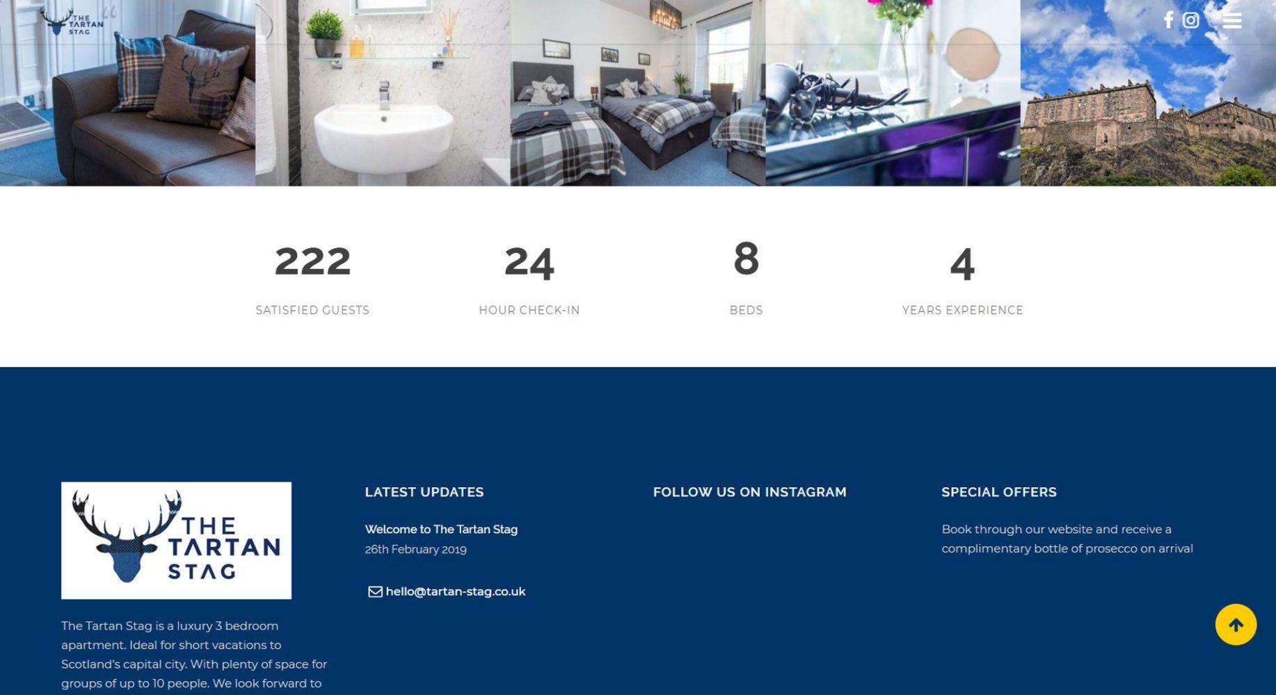 Tartan Stag Website Design Counter