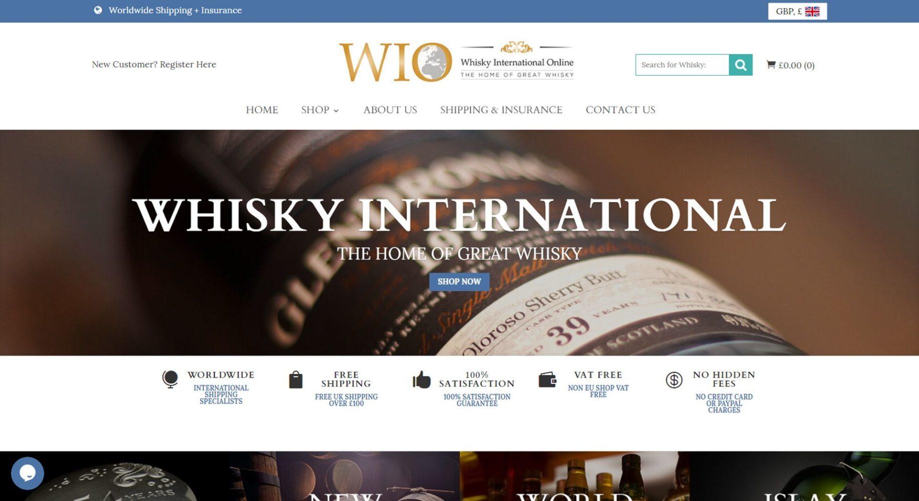 Whisky International Online Header