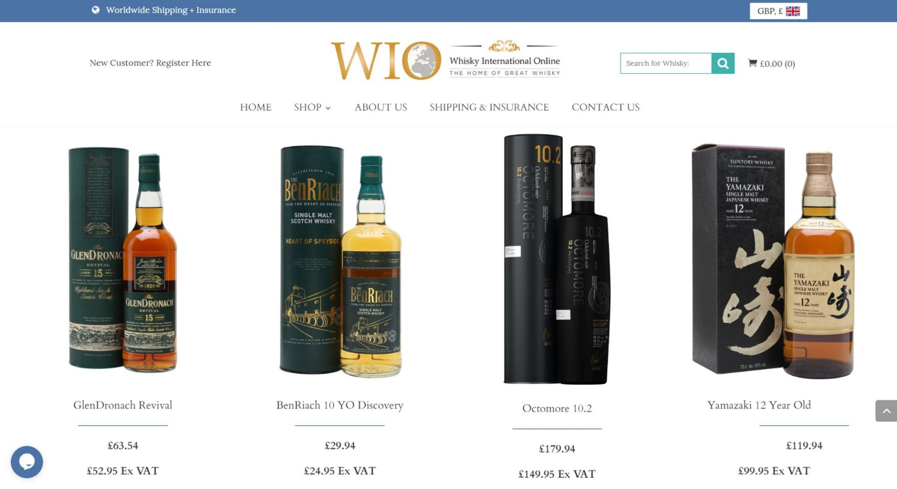 Whisky International Online Product
