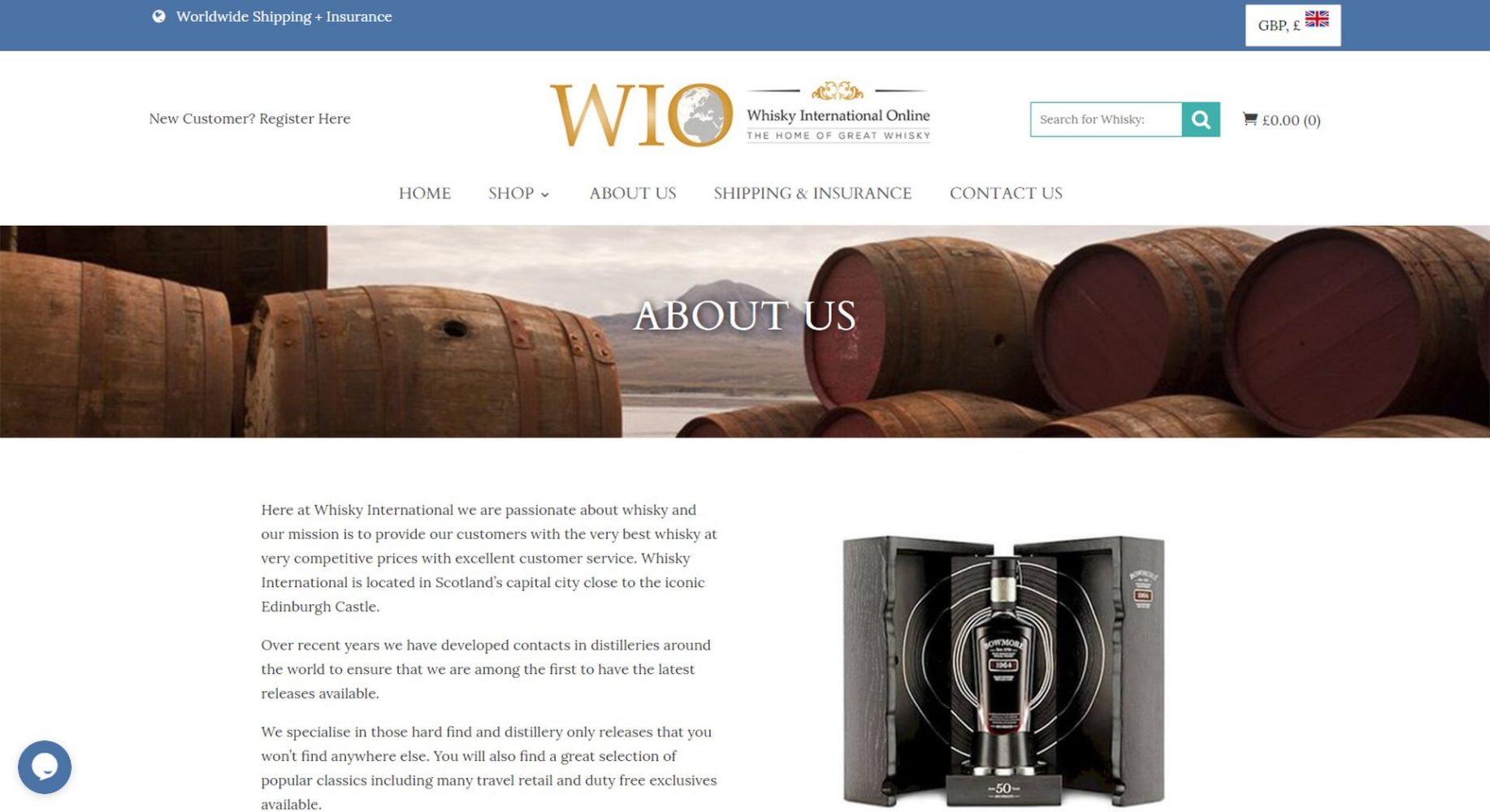 Whisky International Online About