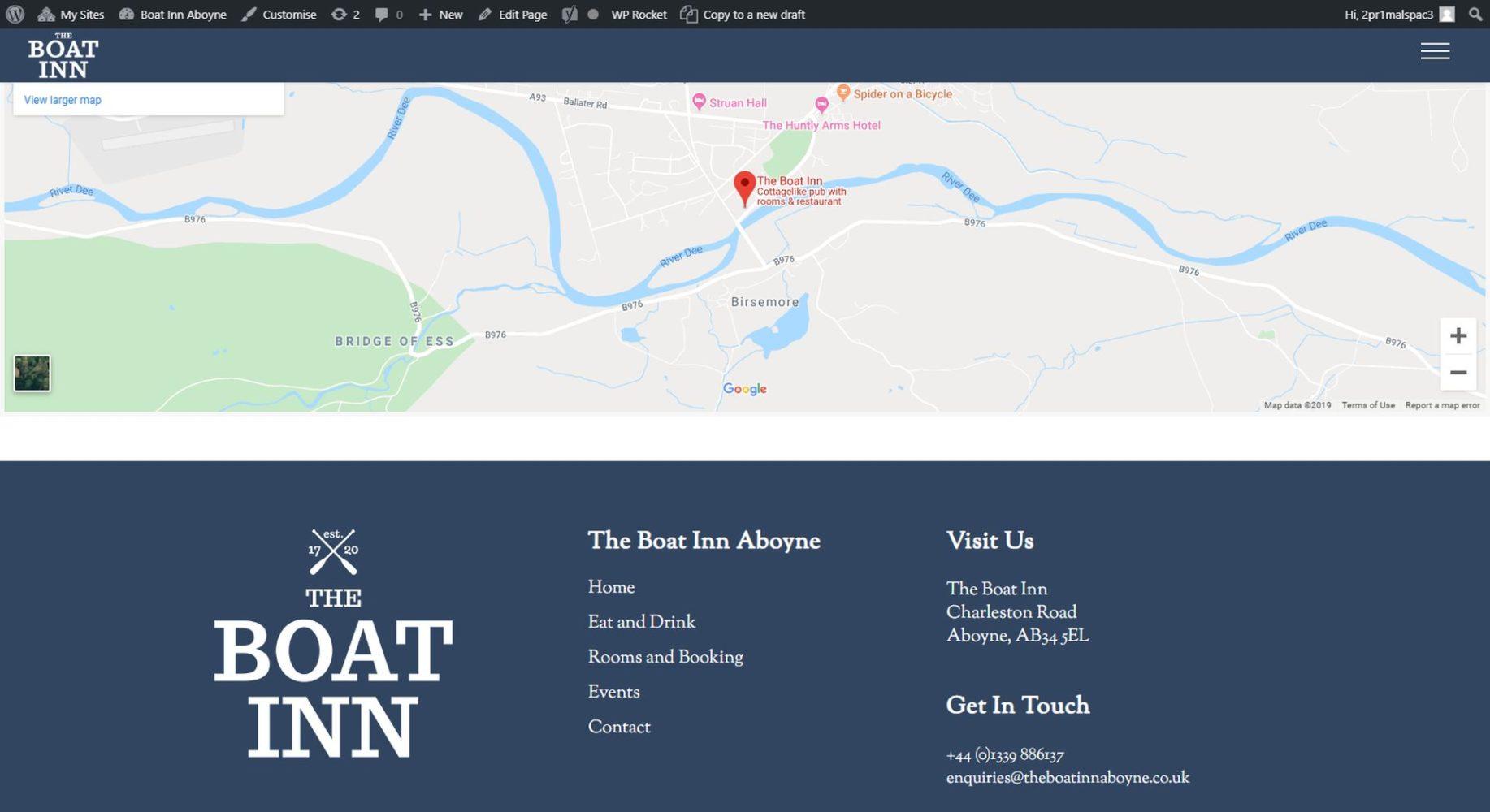 The Boat Inn Aboyne Footer