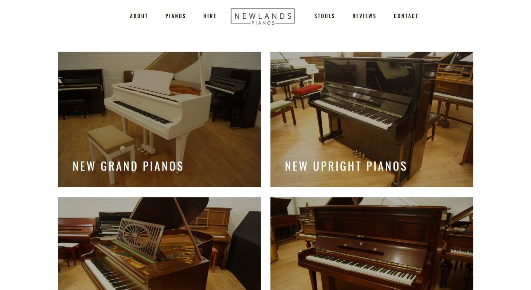 Newlands Pianos Website Design Shop