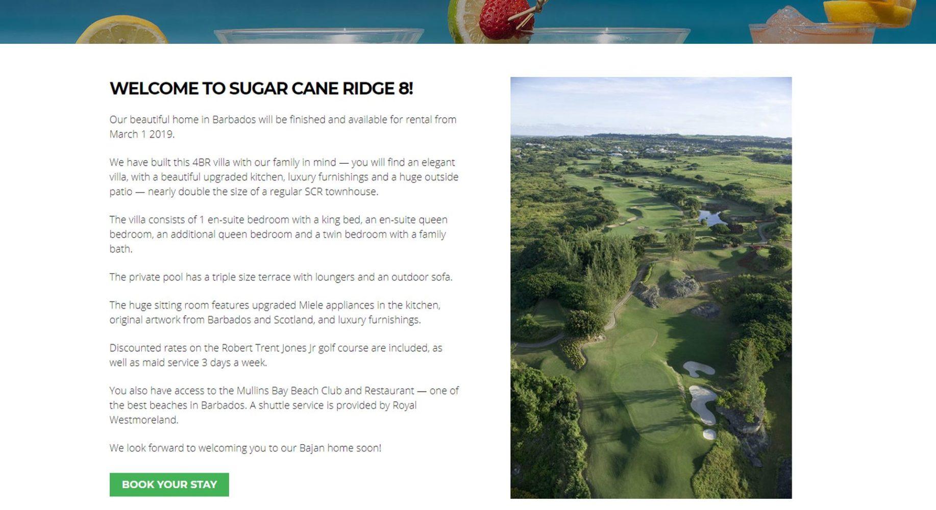 Barbados Villa Website Design Golf