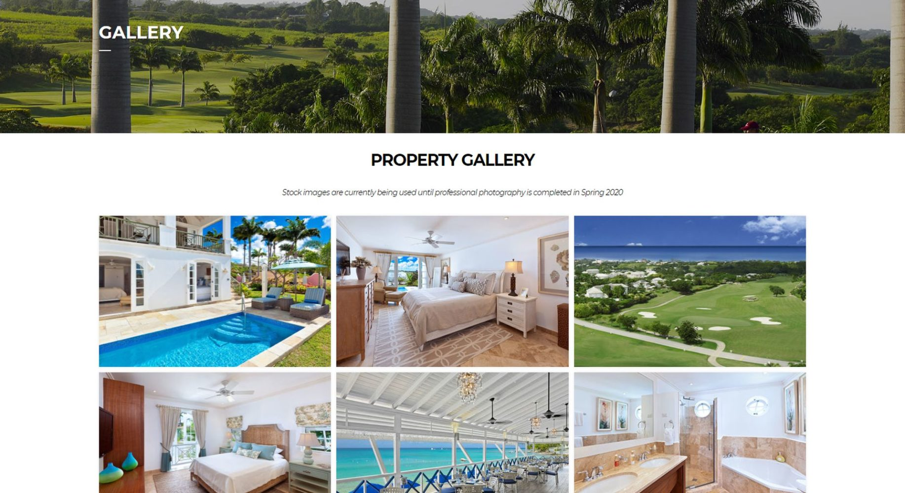 Barbados Villa Website Design Gallery