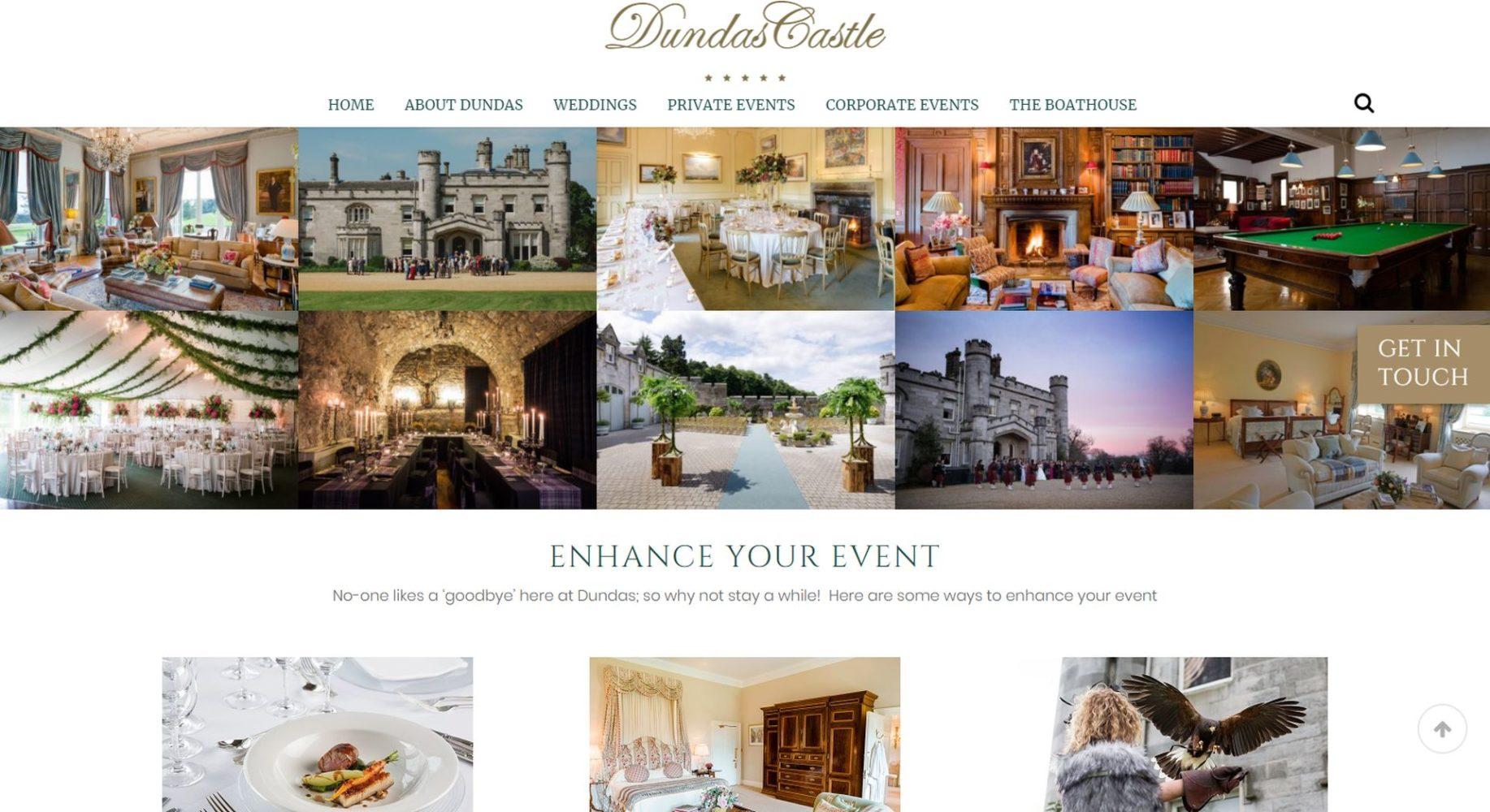 Dundas Castle Website Design Events