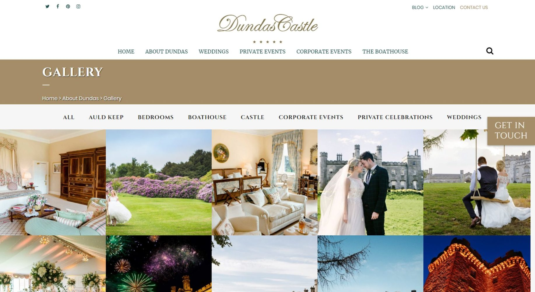 Dundas Castle Website Design Gallery