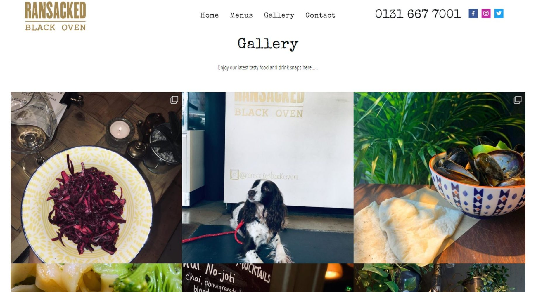 Ransacked Black Oven Website Design Gallery