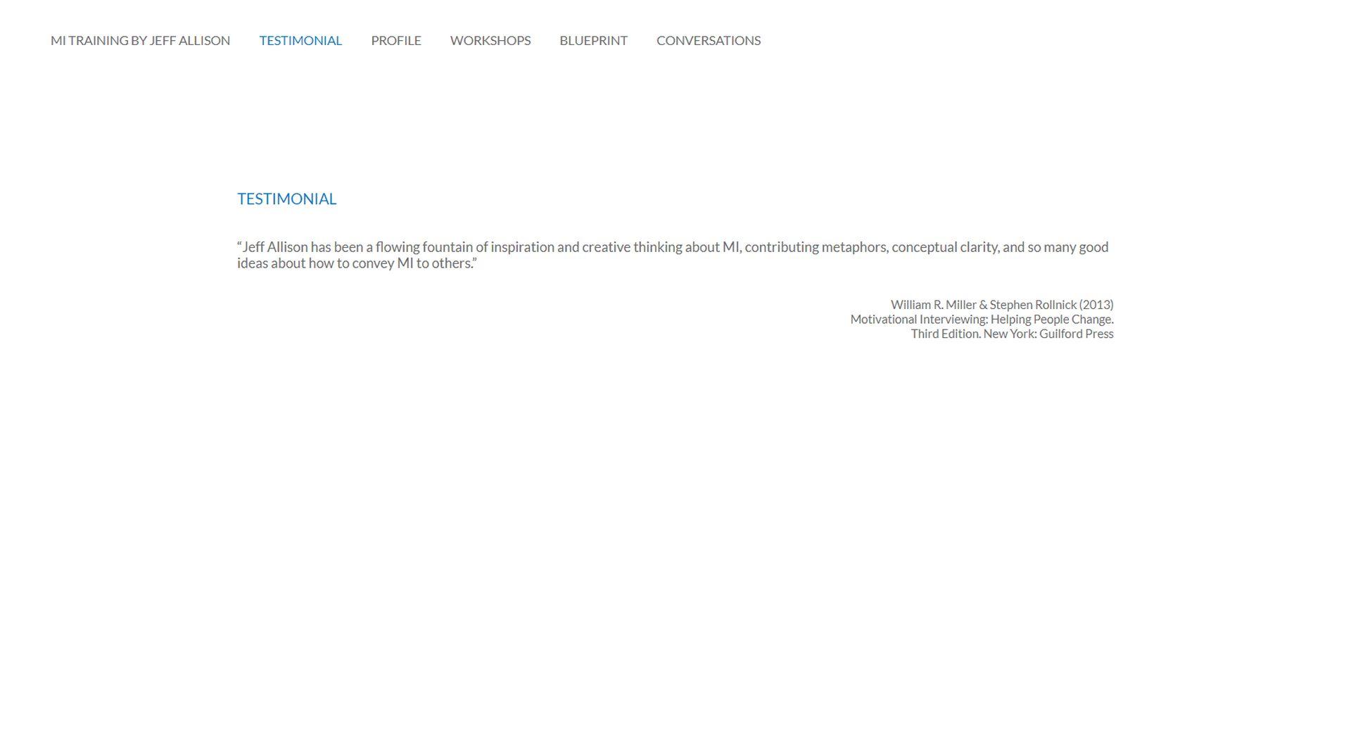 Jeff Allison Website Design Testimonials