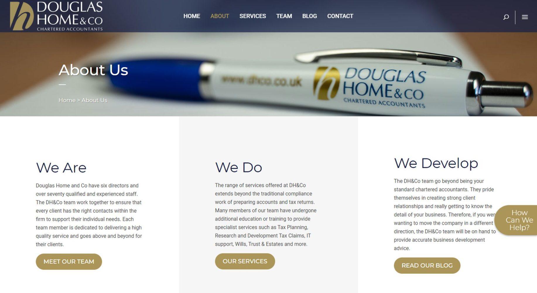 Douglas Home & Co Website Design About Us