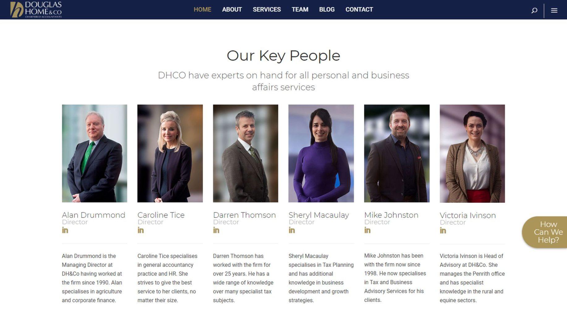 Douglas Home & Co Website Design Team