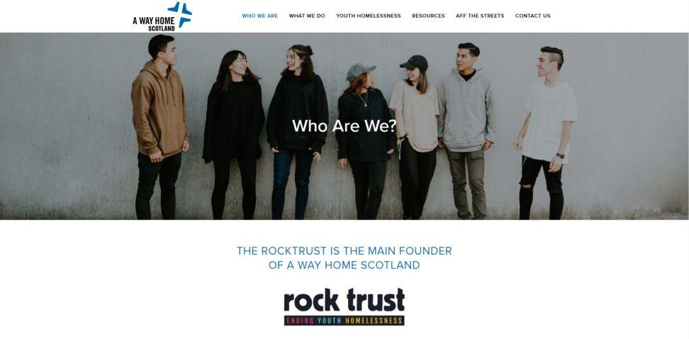 Rock Trust Website Design About Us