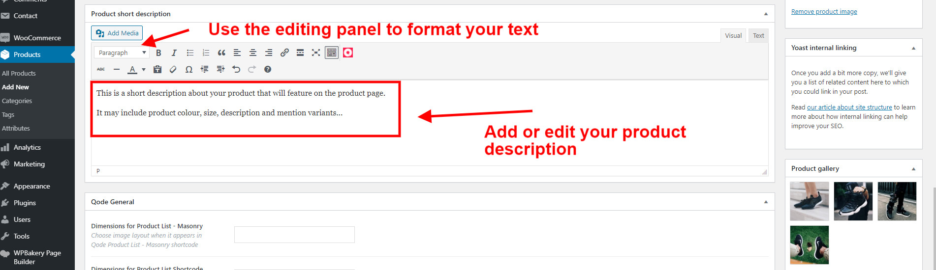 WooCommerce Guide Adding A Product Description