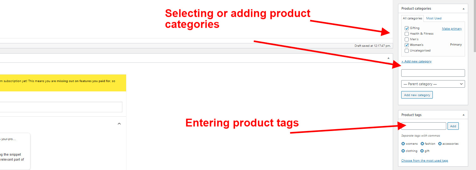 WooCommerce Guide Selecting Product Categories